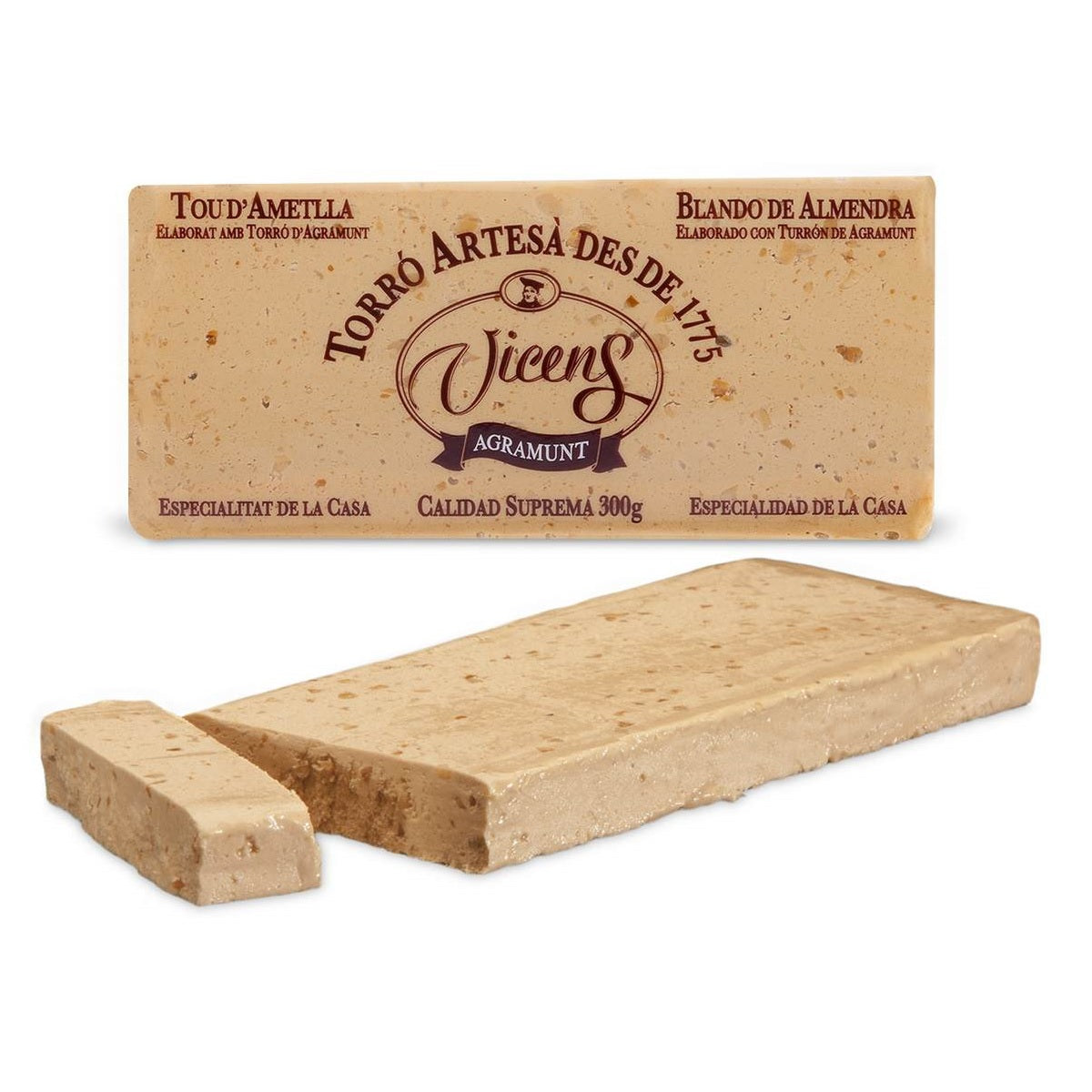 Vicens Soft Ground Almond Nougat - Turrón Candy 200 gr. - The HiO Life
