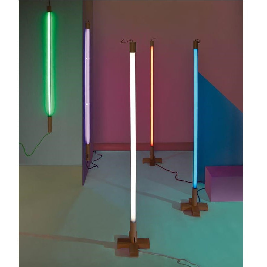 Seletti Neon Lighting with Wooden Base