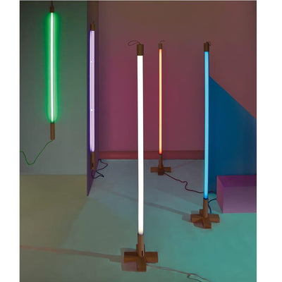 Seletti Neon Lighting with Wooden Base - The HiO Life