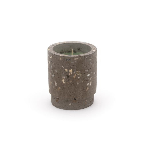 Candle in Cement Jar