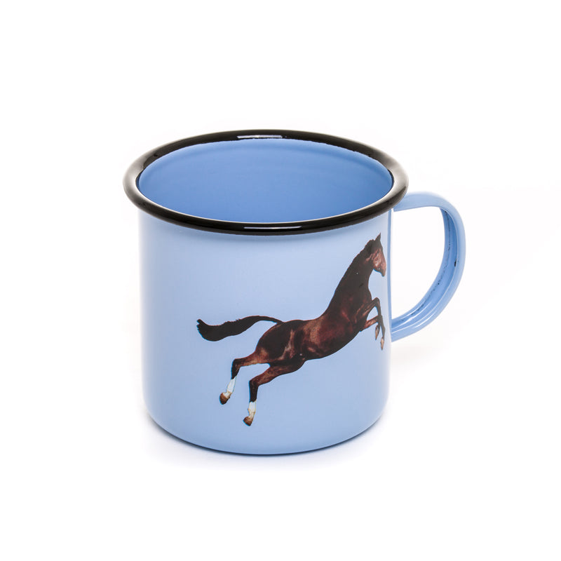TOILETPAPER MUG METAL ENAMELED ¸ Cm.10 h.9 - HORSE - The HiO Life