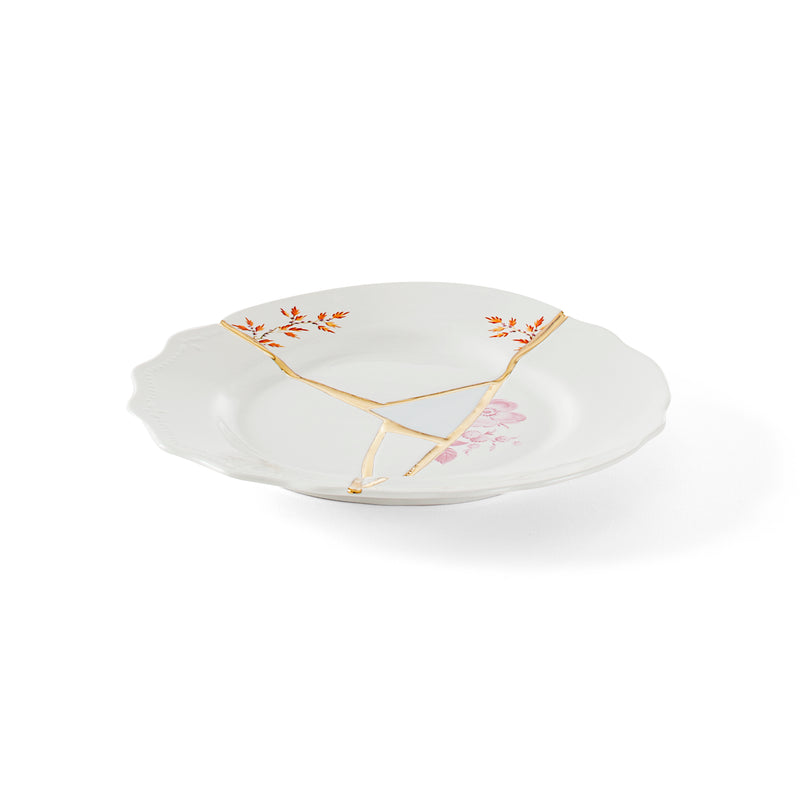 KINTSUGI-n'1 DINNER PLATE IN  PORCELAIN ¸ Cm.27,5 h.3 - The HiO Life
