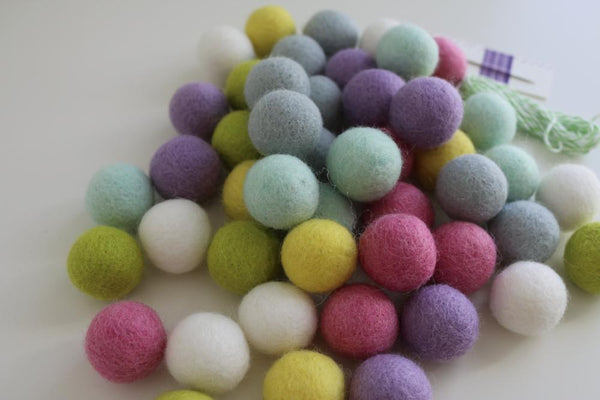 felt ball garland kit