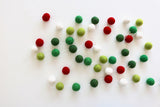 Christmas Felt Ball Garland
