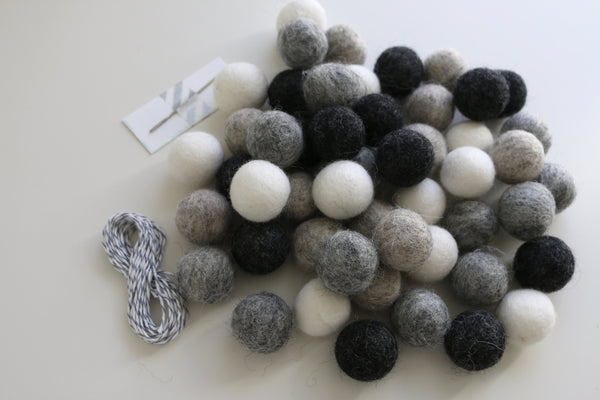 Shades of Grey DIY Garland Kit
