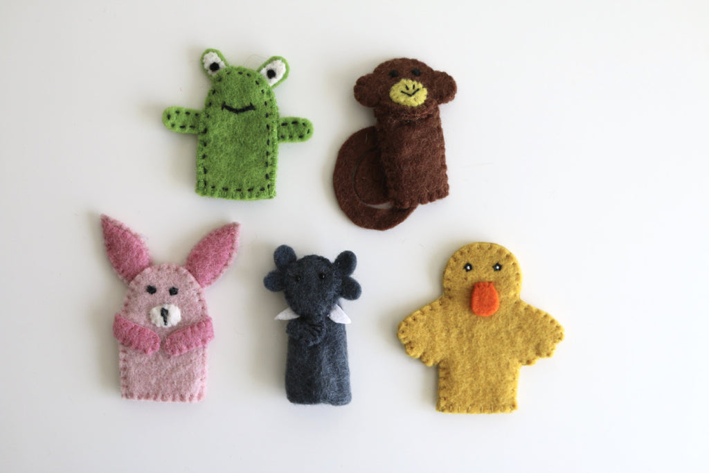 Animal Felt Finger Puppets