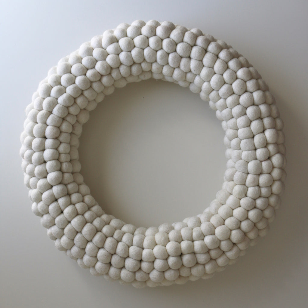 White Ball Wreath