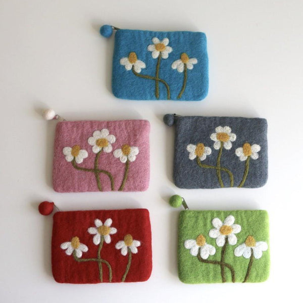 Daisy Felt Coin Purse