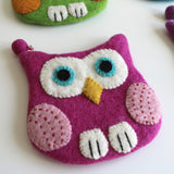 Owl Felt Coin Purse