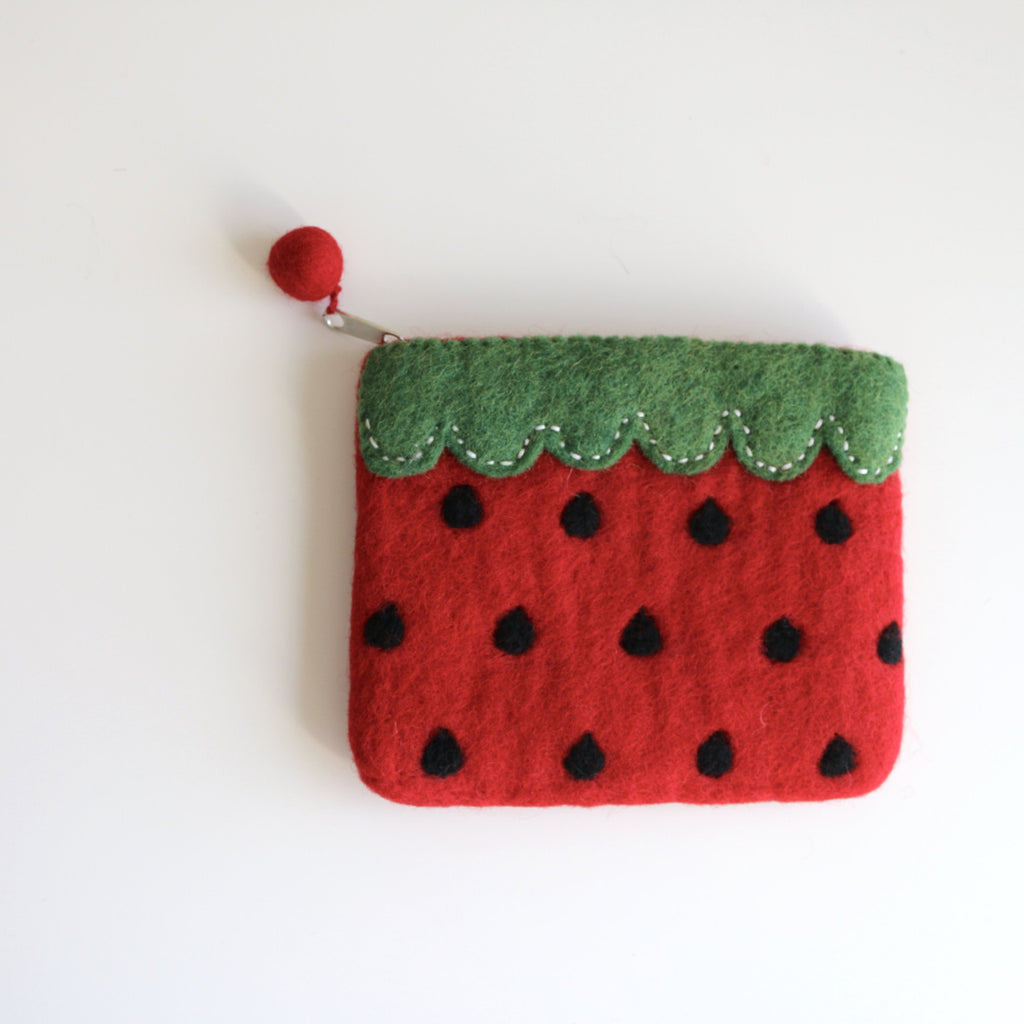 Watermelon Felt Coin Purse