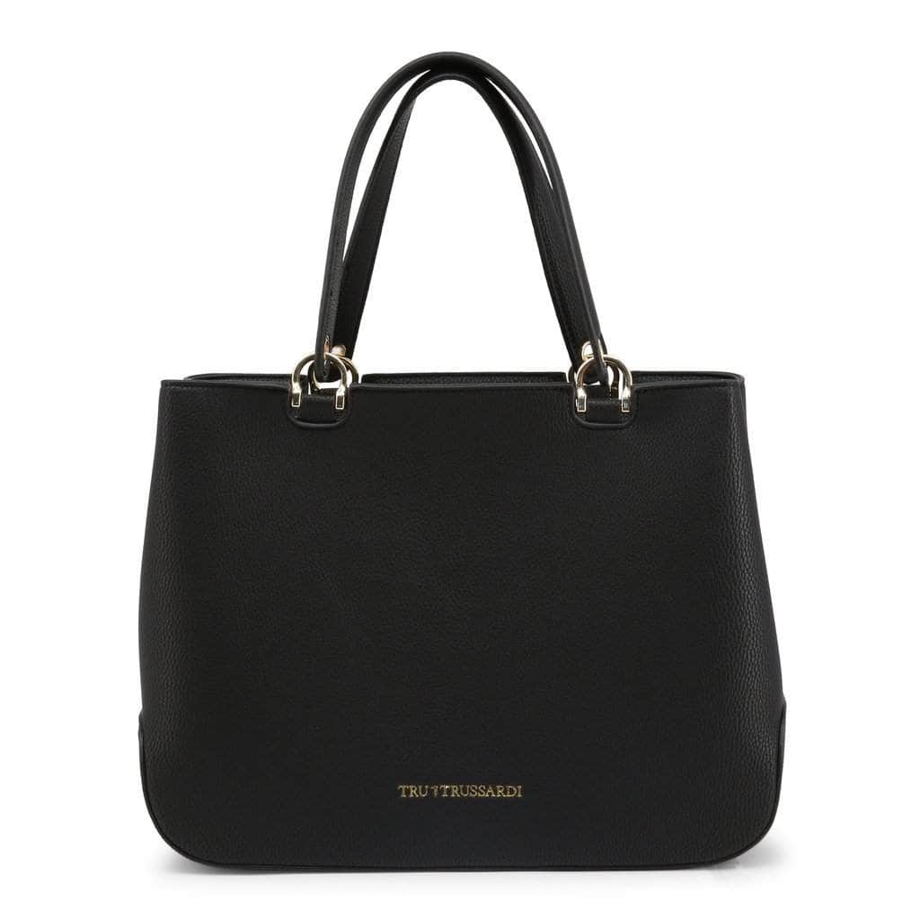 your trendy style Bags Handbags Trussardi Women Leather Black Handbag - TB04 black / NOSIZE