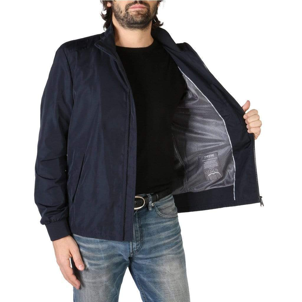 your trendy style Clothing Jackets Geox Men Blue Bomber - M8220GT2447