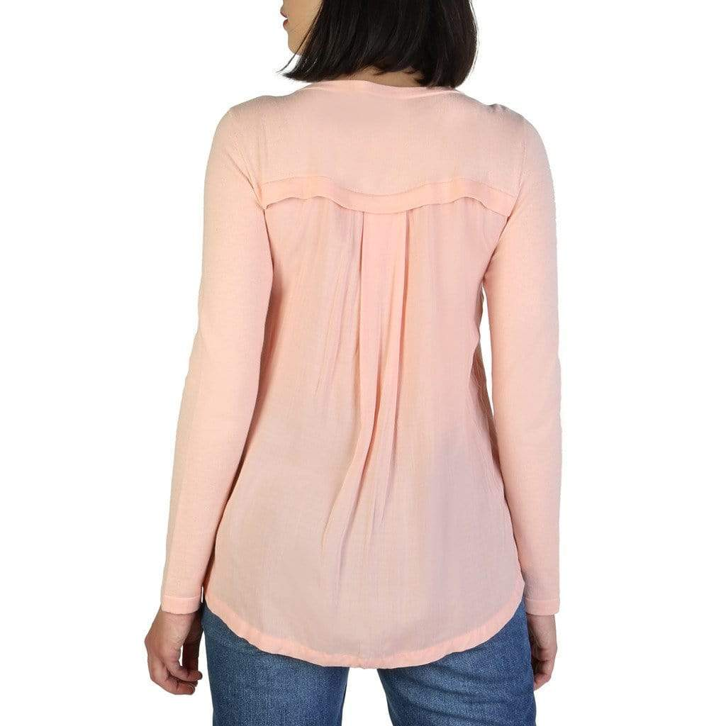 your trendy style Clothing Sweaters Armani Jeans Women Pink Sweater - C5W51 YD