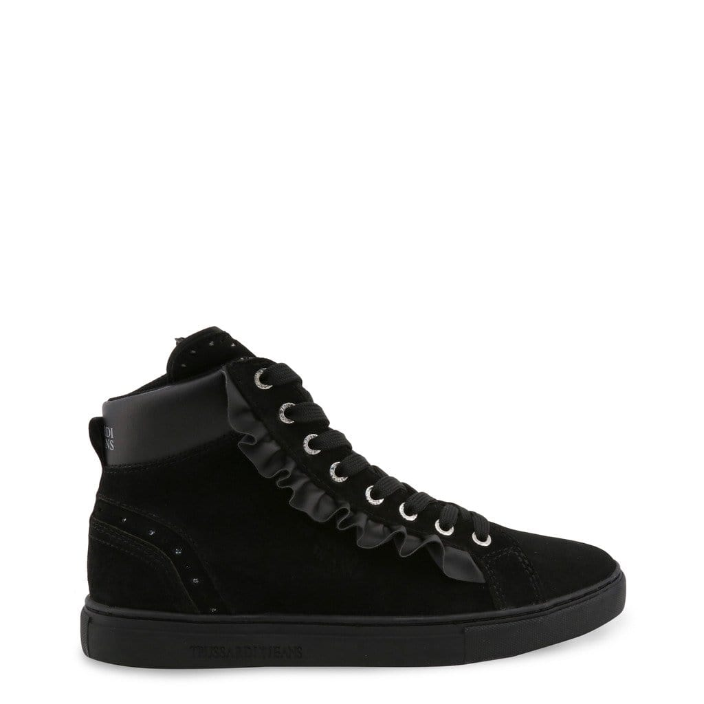 your trendy style Shoes Sneakers Trussardi Women Black High Sneakers - 79A00242 black / EU 35