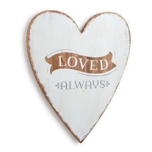Heart, Love wood sign