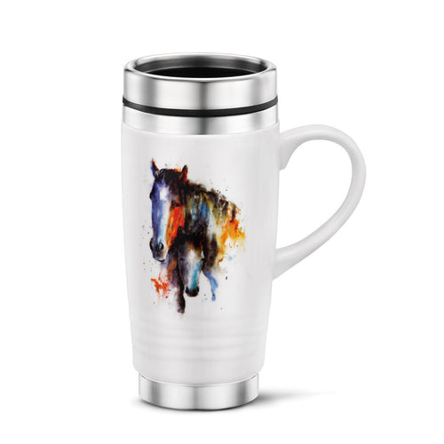 A Mother's love Mare and Foal Travel mug