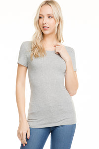 Sleeveless crew neck t shirt tunic in light grey