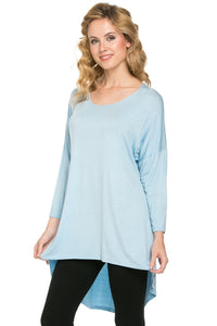 Light blue high low tunic