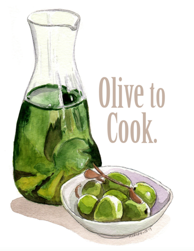 Apron-Olive to cook