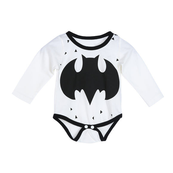 Batman Newborn Baby Boy Bodysuit White Baby Clothes Cute Superhero Short Sleeve Jumpsuit Girls Outfits Set -  J.A.C.K. KIDS
