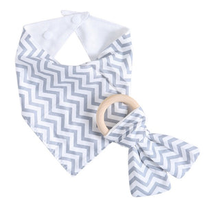 New Arrival 9 Styles 1Set Kids Baby Unisex Feeding Saliva Towel Dribble Triangle Bandana Bibs Teether Ring Baby Toy Gift -  J.A.C.K. KIDS