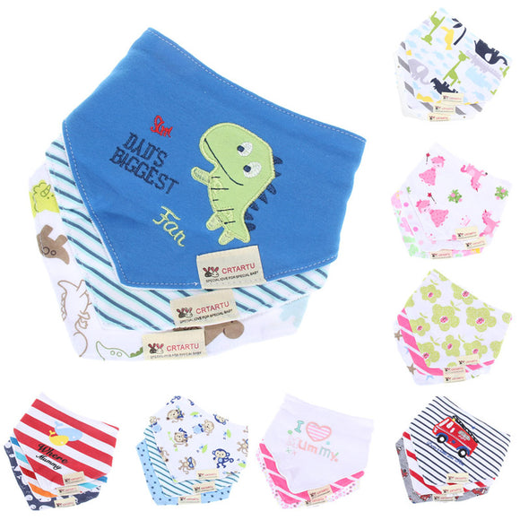 3pcs/set Triangle Baby Bibs Bandanas -  J.A.C.K. KIDS