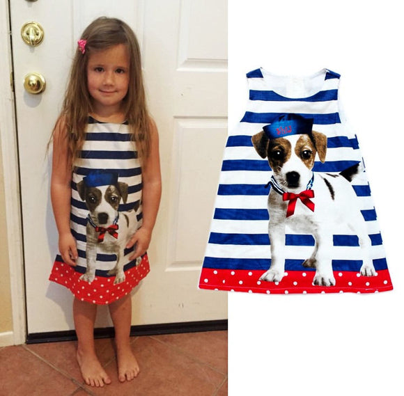 Cool sleeveless striped one-piece dress 3-7 Years -  J.A.C.K. KIDS