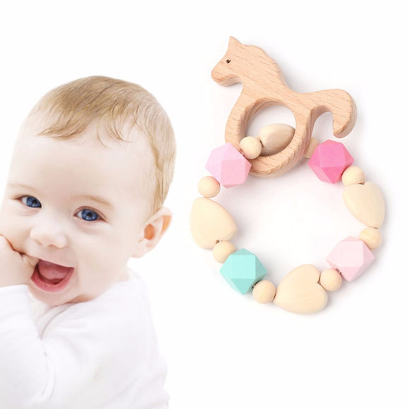 Baby Teether Unicorn Wooden Teething Bracelet -  J.A.C.K. KIDS