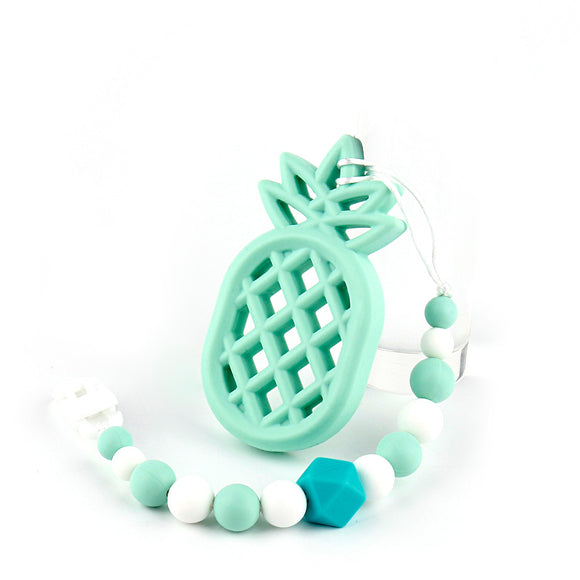 Pineapple Silicone Teether Chain Bpa Free -  J.A.C.K. KIDS