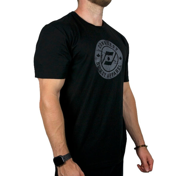 The Veteran Black T-Shirt side