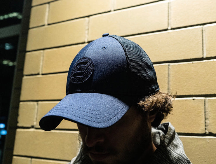 Virtuoso 2.0 (Navy Blue) Mesh Hockey Hat outside