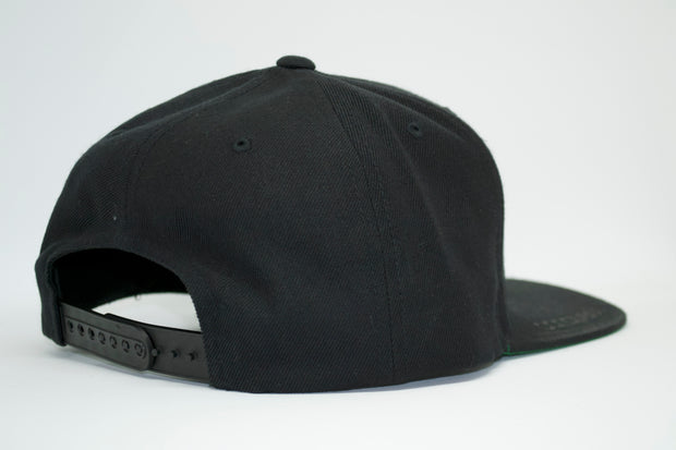 The obsession snap back (grey logo) backside