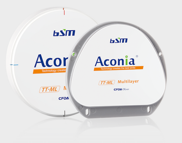 Aconia TT Multilayer Zirconia from BESMILE Dental