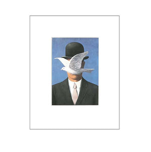 Magritte's 'Man In Bowler Hat' 8x10 Matted Print