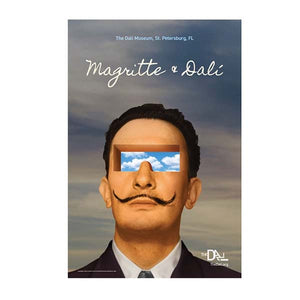 Magritte & Dali Official Exhibit Poster 20x30 in