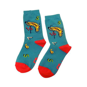 Clock and Numbers Socks for Kids