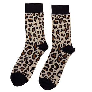 Leopard Print with Black Trim - Socks