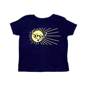 Mr. Dali Sun Toddler T Shirts 2T/4T - Navy Blue