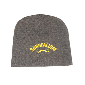 Knit 'Surrealism' Hat with embroidered Mustache