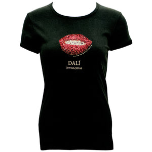 Ruby Lips Jewel Fitted T-Shirt