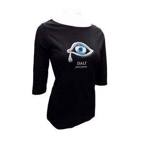 Eye of Time Fitted T Shirt with Half Sleeves