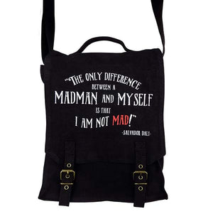 'I am not MAD' Quote Messenger/Field Bag
