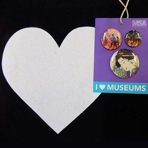 I Heart Museums Tote + Buttons