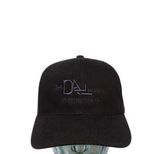 Black Baseball Cap with Dali Logo in black