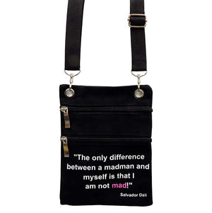 'I am not Mad!' Crossbody Purse