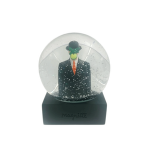 Magritte 'Son of Man' Snow Globe