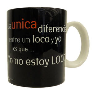 'I am not MAD!' Dali Quote Mug in Spanish