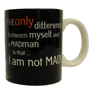 'I am not MAD!' Dali Quote Mug in English