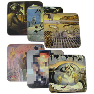Set of Coasters Featuring Six Paintings