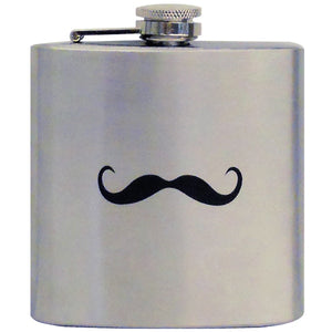 Dali Hip Flask with Mustache